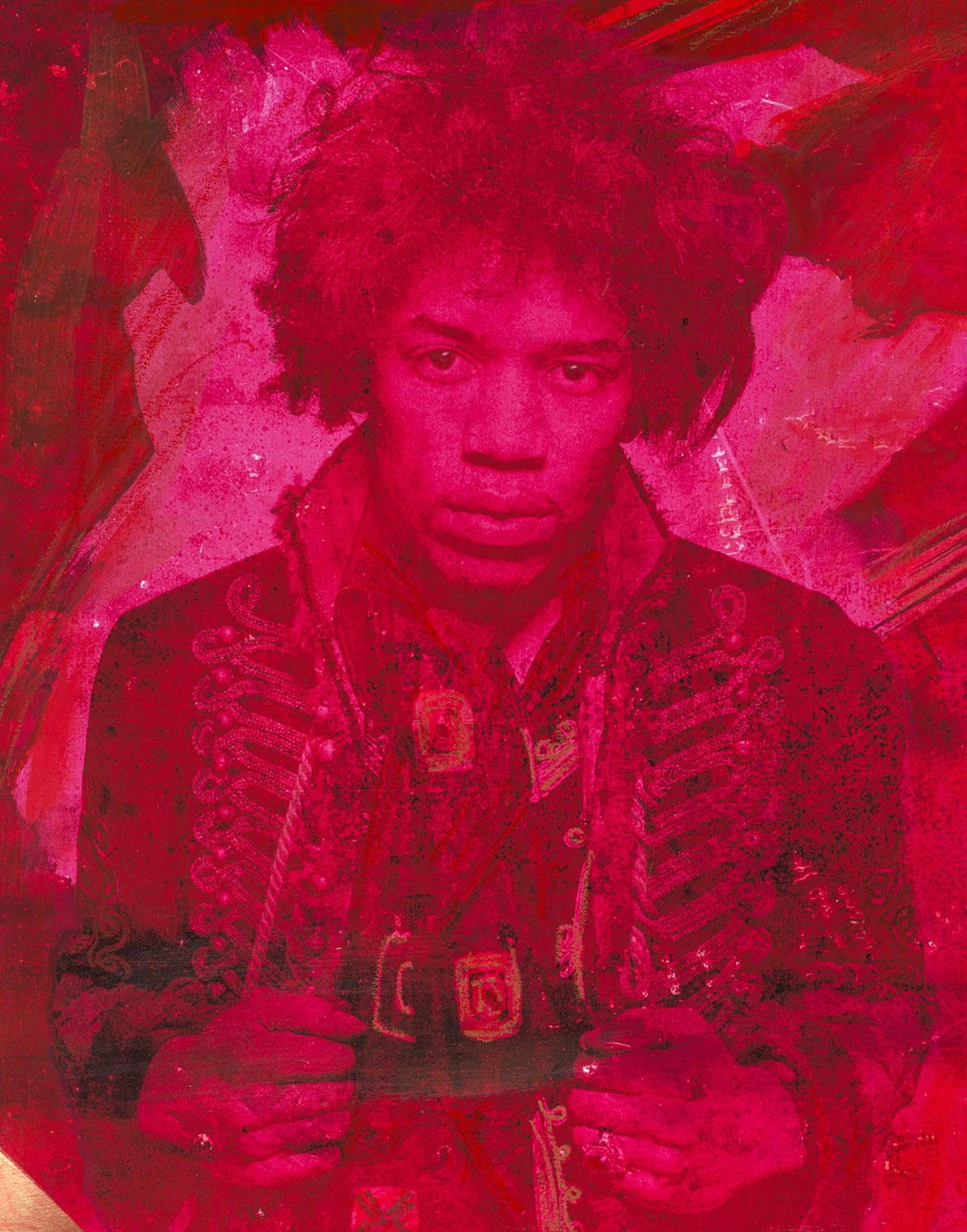 Mr Jimi Neon Red 2017 featuring Jimi Hendrix