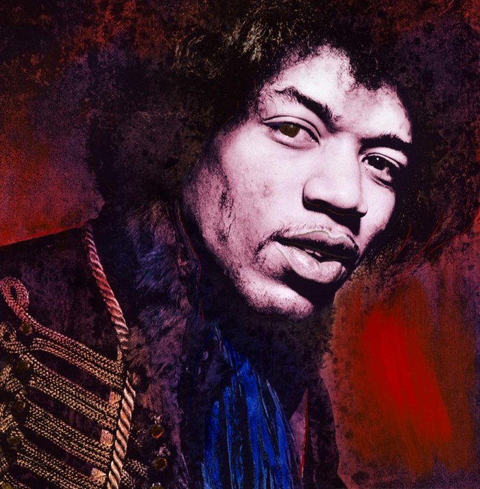 Midnight Red ChromaLuxe featuring Jimi Hendrix