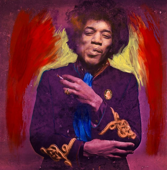 Smoking Purple Yellow ChromaLuxe featuring Jimi Hendrix